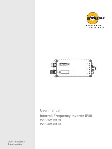 User manual Interroll Frequency Inverter IP55