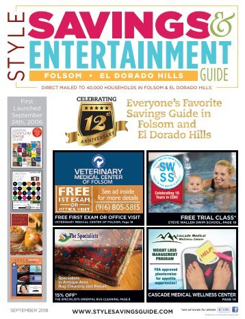 Style Savings & Entertainment Guide: Folsom and El Dorado Hills; September 2018