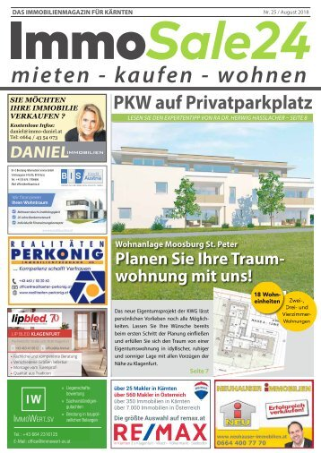 Immobilien Zeitung Ausgabe August 2018