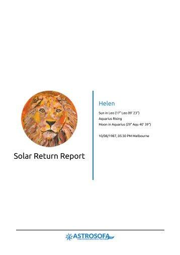 Solar Return Helen