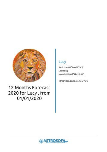 12 Months Forecast Angela