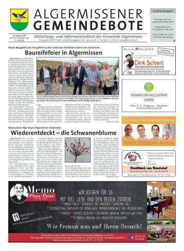 Algermissener Gemeindebote 30.08.18