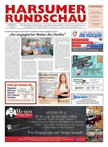 Harsumer Rundschau 30.08.18