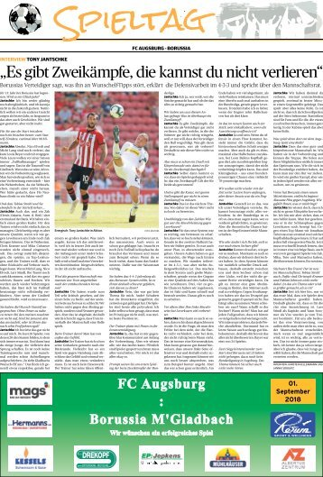 Spieltagsseiten Borussia -01.09.2018-