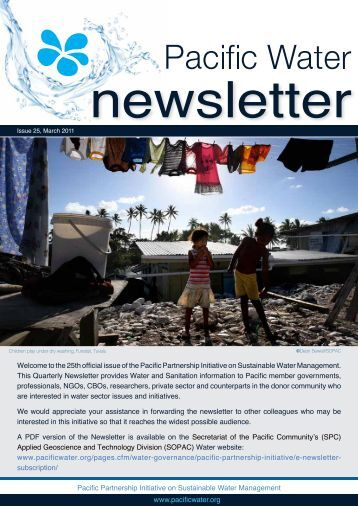 Pacific Partnership Initiative on Sustainable Water Management ...