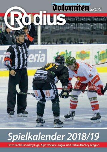Radius Eishockey Spielkalender 2018