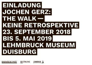 Begleitheft zur Ausstellung Jochen Gerz  -11.09.2018-