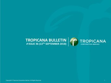 Tropicana Bulletin Issue 36