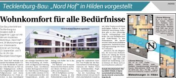 "Tecklenburg-Bau: ""Nord Hof"" in Hilden vorgestellt  -15.09.2018-"