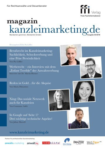 eMagazin kanzleimarketing.de 03/2018