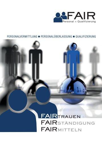 FAIR Imagebroschüre