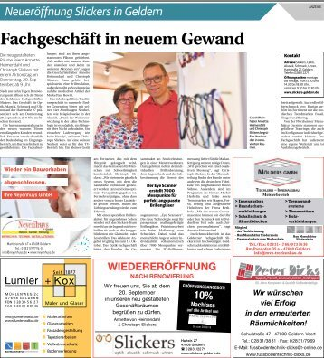 Neueröffnung Slickers in Geldern  -19.09.2018-