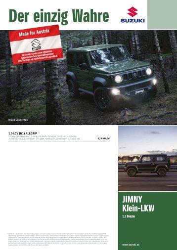 JIMNY Preise, Ausstattung und technische Daten