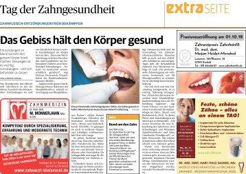 Tag der Zahngesundheit  -25.09.2018-