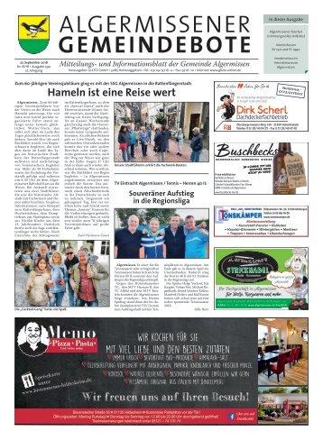 Algermissener Gemeindebote 27.09.18