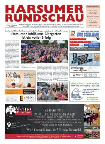 Harsumer Rundschau 27.09.18
