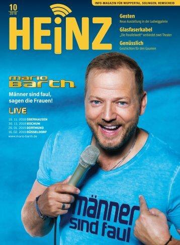 10-2018 HEINZ-MAGAZIN Wuppertal - Solingen - Remscheid
