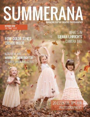 "SUMMERANA MAGAZINE |October 2018 |The ""Fall"" Issue"