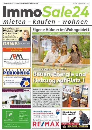 Immobilien Zeitung Ausgabe September 2018