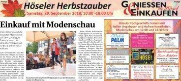 Höseler Herbstzauber  -28.09.2018-