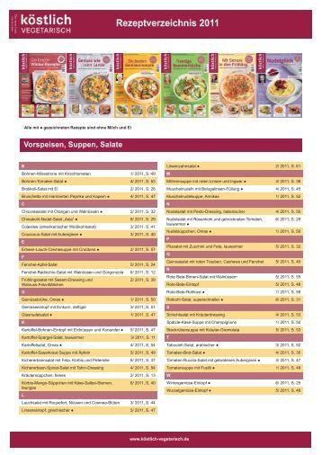Werbeformen und Preise für 2012 Rezeptverzeichnis 2011