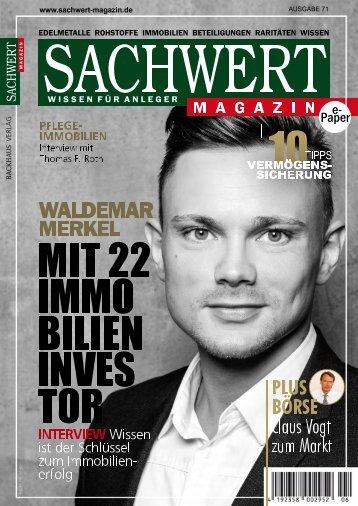 Sachwert Magazin Ausgabe 71, September 2018