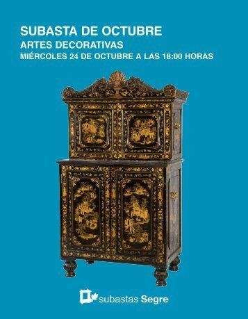 Subasta Artes Decorativas Octubre 2018