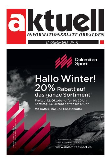 41-2018 Aktuell Obwalden