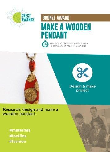Make a wooden pendant