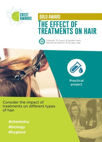 The effect of treatments on hair