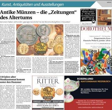 Kunst, Antiquitäten und Ausstellungen  -12.10.2018-