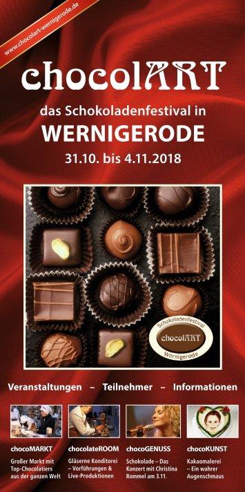 Programmheft zur chocolART Wernigerode 2018