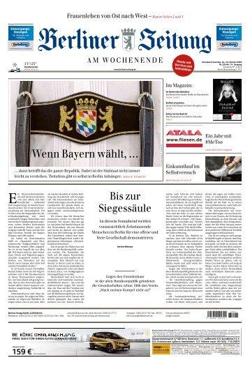 Berliner Zeitung 13./14.10.2018