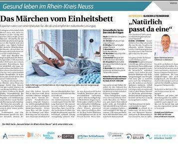 Gesund leben im Rhein-Kreis Neuss  -17.10.2018-