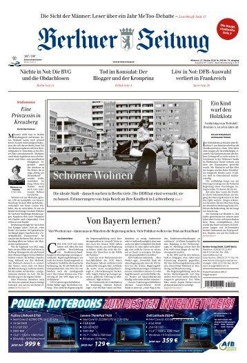 Berliner Zeitung 17.10.2018