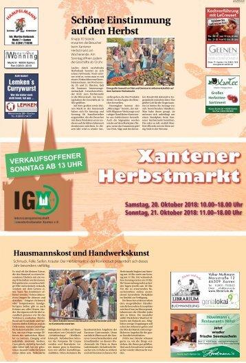 Xantener Herbstmarkt  -19.10.2018-