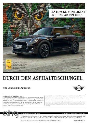 MINI ahg Hauszeitung Oktober 2018
