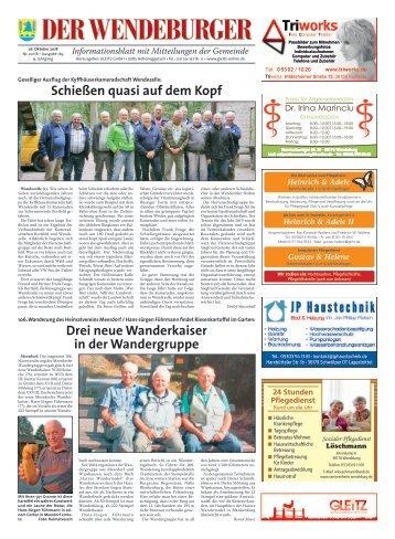 Der Wendeburger 26.10.18