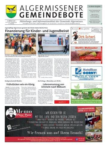 Algermissener Gemeindebote 25.10.18