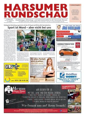 Harsumer Rundschau 25.10.18