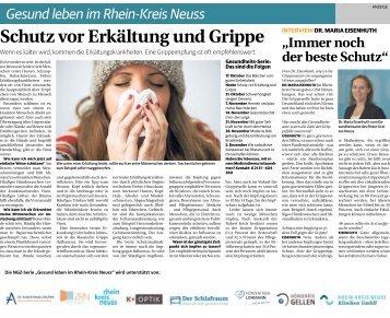 Gesund leben im Rhein-Kreis Neuss  -24.10.2018-