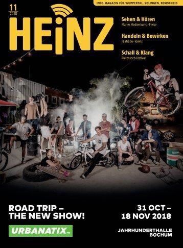 11-2018 HEINZ MAGAZIN Wuppertal - Solingen - Remscheid