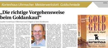 Kortenhaus Uhrmacher. Meisterwerkstatt. Goldschmiede  -26.10.2018-