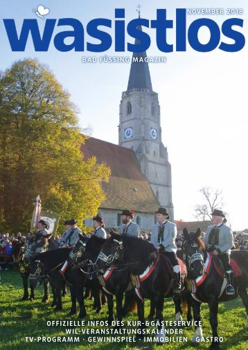 wasistlos Bad Füssing Magazin November 2018