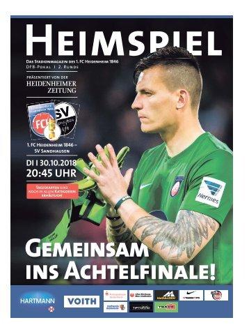 Heimspiel DFB-Pokal 2. Runde 2018/19