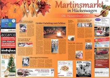 Martinsmarkt in Hückeswagen  31.10.2018-