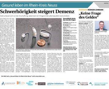 Gesund leben im Rhein-Kreis Neuss  -31.10.2018-