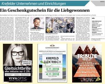 Krefelder Unternehmen und Einrichtungen  -01.11.2018-