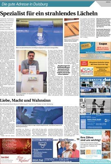 Die gute Adresse in Duisburg  -01.11.2018-