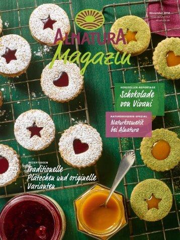 Alnatura Magazin November 2018